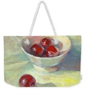 Cherries In A Cup On A Sunny Day Painting Weekender Tote Bag