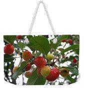 Cherries In The Morning Rain Weekender Tote Bag