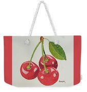 Cherry Times Three Weekender Tote Bag