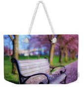 Cherry Blossom Bench Weekender Tote Bag