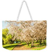 Cherry Blossom Lane Weekender Tote Bag