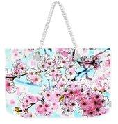 Cherry Blossom Watercolor Weekender Tote Bag
