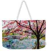 Cherry Blossoms And Bridge 3 201730 Weekender Tote Bag