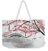 Cherry Blossoms And Bridge II Meadowlark Botanic Gardens 201729  Weekender Tote Bag