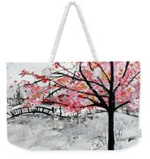 Cherry Blossoms And Bridge Meadowlark Botanical Gardens 201728 Weekender Tote Bag