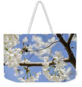 Cherry Blossoms And Bumblebee Weekender Tote Bag
