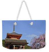 Cherry Blossoms And Kiyomizu-dera Weekender Tote Bag