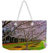 Cherry Blossoms At The Beach Weekender Tote Bag