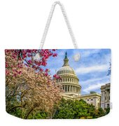 Cherry Blossoms At The Capitol Weekender Tote Bag