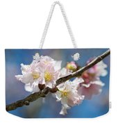 Cherry Blossoms On Blue Weekender Tote Bag