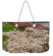 Cherry Blossoms Trees Along Portland Waterfront Weekender Tote Bag