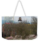Cherry Blossoms Trees In Portland Old Town Weekender Tote Bag