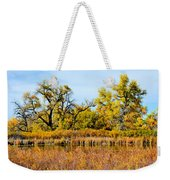Cherry Creek Pond In Autumn Weekender Tote Bag