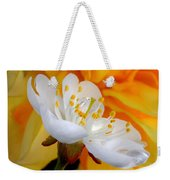 Cherry Flower In The Spring, In Profile Weekender Tote Bag