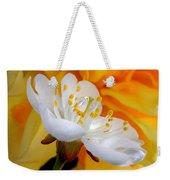 Cherry Flower In The Spring, In Profile Weekender Tote Bag