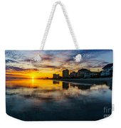 Cherry Grove Beach Front Sunset Weekender Tote Bag