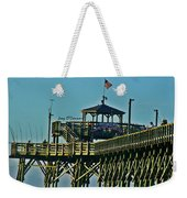 Cherry Grove Pier - Closeup End Of Pier Weekender Tote Bag