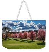 Cherry Tree Bloom Color Weekender Tote Bag