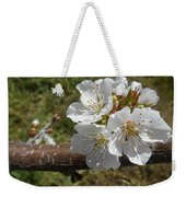 Cherry Tree Blossom White Flower Weekender Tote Bag
