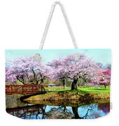Cherry Trees In The Park Weekender Tote Bag