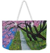 Cherry Trees- Pink Blossoms- Landscape Painting Weekender Tote Bag