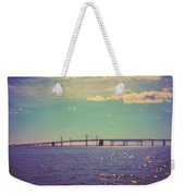 Chesapeake Bay Bridge Weekender Tote Bag