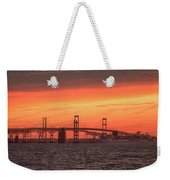 Chesapeake Bay Bridge Sunset Weekender Tote Bag