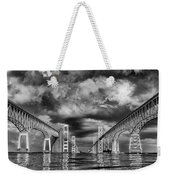 Chesapeake Bay Bw Weekender Tote Bag