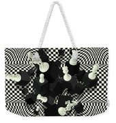 Chessboard And 3d Chess Pieces Composition Weekender Tote Bag
