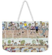 Chest Out Crabbing Weekender Tote Bag