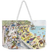 Chest Out In Costa Bra Less Weekender Tote Bag