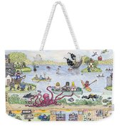 Chest Out On The Meare Gawpness Weekender Tote Bag