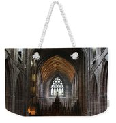 Chester Cathedral England Uk Inside The Nave Weekender Tote Bag
