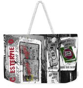 Chesterfield And Lucky Strike Cigarette Signs S. Meyer Avenue Barrio, Tucson, Az 1967-2016 Weekender Tote Bag