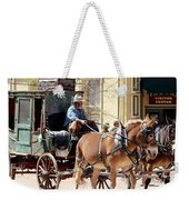 Chestnut Horses Pulling Carriage Weekender Tote Bag
