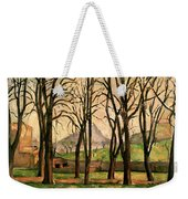 Chestnut Trees At The Jas De Bouffan Weekender Tote Bag by Paul Cezanne