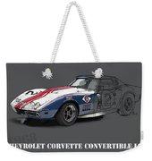 Chevrolet Corvette Convertible L88 1968,original Fast Race Car Weekender Tote Bag