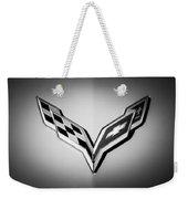 Chevrolet Corvette Emblem -0406bw Weekender Tote Bag