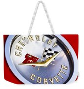 Chevrolet Corvette Hood Ornament Weekender Tote Bag