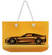 Chevrolet Corvette Stingray 2013 Painting Weekender Tote Bag