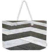 Chevron  Weekender Tote Bag by Linda Woods