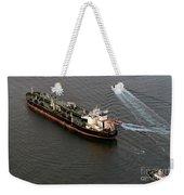 Chevron Pegasus Voyager Oil Tanker Weekender Tote Bag
