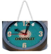 Chevy Neon Clock Weekender Tote Bag