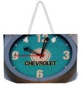 Chevy Neon Clock Weekender Tote Bag