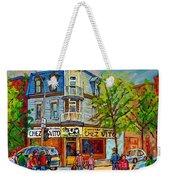 Chez Vito Rue Fairmount Landmark Architecture Beautiful Summer Scene Montreal 375 Carole Spandau Art Weekender Tote Bag