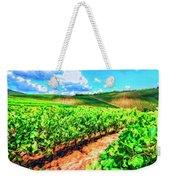 Chianti Vineyard In Tuscany Weekender Tote Bag