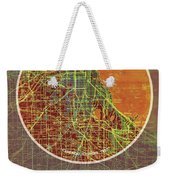 Chicago 1957 Old Map, Chicago Frank Lloyd Wright Quote Weekender Tote Bag