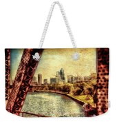 Chicago Approaching The City In June Textured Weekender Tote Bag