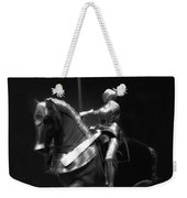 Chicago Art Institute Armored Knight And Horse Bw 01 Weekender Tote Bag
