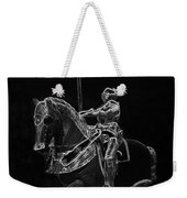 Chicago Art Institute Armored Knight And Horse Bw Pa 02 Weekender Tote Bag